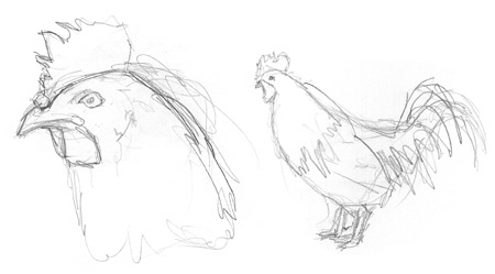 Chickens Sketch