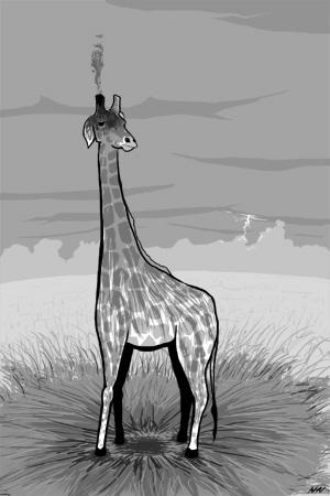 Smitten Giraffe