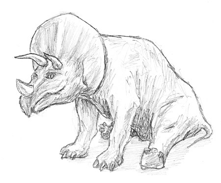 Triceratops Sketch