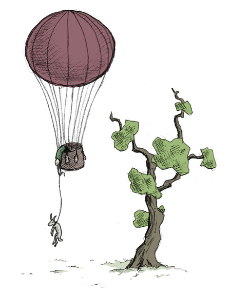 Balloon and Goat